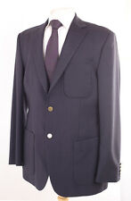 M&S NAVY WOOL & CASHMERE MEN'S BLAZER SUIT JACKET 40L DRY-CLEANED