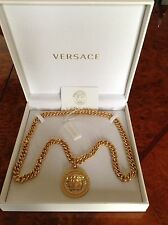 AUTHENTIC VERSACE 3D CRYSTAL MEDUSA NECKLACE