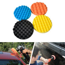 4pcs Honeycomb Wave Foam Frictional Pad For Car Vehicle Buffing Polishing Pad