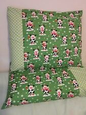 Christmas cow pattern 100% new Cotton handmade Pillowcase one pair