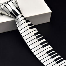 Black & White Piano Keyboard Keys Necktie Tie New