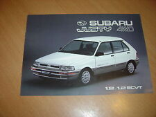 CATALOGUE Subaru Justy 4WD de 1989 Belgique