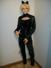 SEXY CATWOMAN FANCY DRESS COSTUME SIZE 12-14(L)