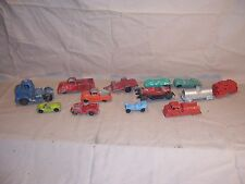 Vintage Lot Tootsietoy Toy Trucks Car Train Pickup Jeep Trailer