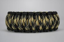 550 Paracord Survival Bracelet King Cobra Black/Gold/Knights Camping Tactical