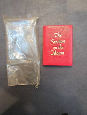 1973 miiniature leather book-Achille St. Onge-Sermon on the Mount ltd ed- unused