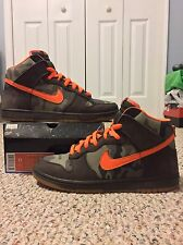 NIKE DUNK HIGH PRO SB sz 11 BRIAN ANDERSON CAMOFLAUGE ORANGE HUNTER REESE SKUNK