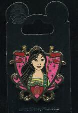 Princess Jeweled Crest Mulan Shield Disney Pin 99152