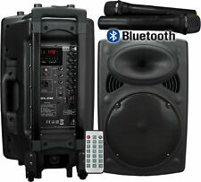 PORTABLE PA SPEAKER SYSTEM INC 2 WIRELESS MICROPHONES BLUETOOTH MP3 - VOCAL-STAR
