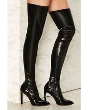 Jeffrey Campbell Vulpina Over-the-Knee Boots size 9 black new in box