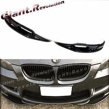 Fit BMW 08-13 E90 E92 E93 M3 Carbon Fiber 3D Look Front Bumper 2PCS Splitter Lip