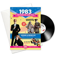 1983 33rd Birthday | Anniversary Gift -1983 4-In-1 Card,Book,CD and Download