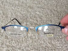 New AMADEUS EYEWEAR WOMENS FRAMES beautiful BLUE / SILVER stainless steel UNIQUE