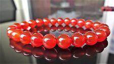 """Genuine Carnelian Bead Bracelet for Men or Women (On Stretch) 8mm AAA 7.5"""" inch"""