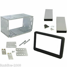 CT23AR10 ALFA ROMEO SPIDER 2006 to 2010 BLACK DOUBLE DIN FACIA ADAPTOR KIT