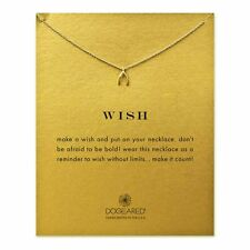 "NEW DOGEARED Gold ""WISH"" Wishbone Necklace -SALE"