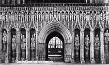 Vintage REAL PHOTO Postcard RIPON Cathedral The Organ Screen YORKSHIRE
