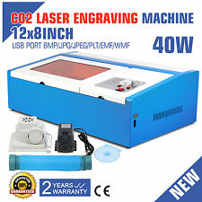 CO2 LASER ENGRAVER ENGRAVING MACHINE 40W CUTTING CUTTER ARTWORK USB PORT PRINTER