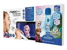 "NEW DISNEY FROZEN 7"" TABLET KARAOKE MIC MACHINE I APP PAD QUAD CORE KID CHILDREN"
