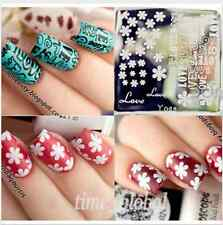 Nail Art Stamp Template Image Stamping Plate Flower Love Letter Design QA-Y023