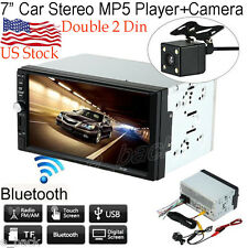 Double 2 Din Car Stereo MP5 MP3 Player Radio Bluetooth USB AUX   Parking Camera