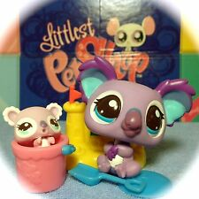 LITTLEST PET SHOP #2501/2502 CUTEST PETS MOMMY & BABY KOALAS w/ ACCESSORIES