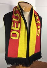 Vintage Germany Soccer Scarf, Deutschland Futbol, German Flag Colors, Warm