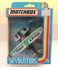 Matchbox Skybusters SB-26 Cessna 210 Float plane - Black/White - Mint/Boxed