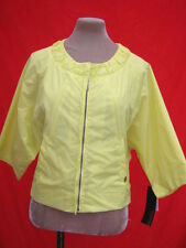 £389 Vtg style CK Calvin Klein Yellow Lemon lightweight shell jacket 12-14