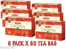 BOH Plantation CAMERONIAN GOLD BLEND ORIGNAL TEA COMBO PACK 6 X 60 TEA BAGS
