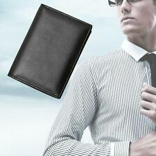New Men's PU Leather Clutch Pockets Wallet Folding Business Credit Card Purse EH