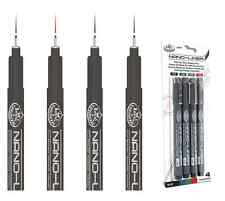 4 COLOUR INK ARTIST FINE LINERS 0.5 NIB BLACK BLUE RED GREEN DRAWING PENS RD702