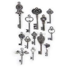 13 Antique Tibetan Silver Mixed Key Charm Pendant DIY Jewelry Craft Findings