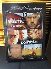 A KnightsTale-Lords of Dogtown-The Patriot (DVD Triple Feature) NEW SEALED