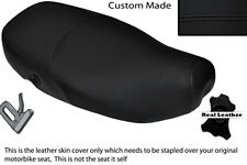 BLACK STITCH CUSTOM FITS PIAGGIO VESPA LX 125 DUAL LEATHER SEAT COVER