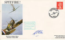 1989 WWII RAF Spitfire Cambridge cover signed Wing Commander Hebron