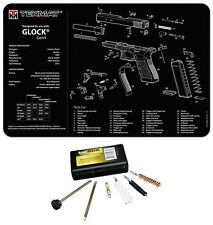 Glock GEN 4 Tek Mat Armorers Cleaning Mat COMBO KIT With UTG 9MM Cleaning KIT !
