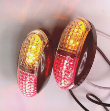2 X Red&Amber 4 LED Side Marker Tail Light Caravan Trailer Truck Ute Camper