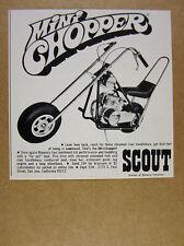 1969 Bonanza Scout MiniChopper Mini-Chopper minibike vintage print Ad