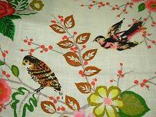 """~BTY~RICHLOOM~""""GALAPAGO""""BIRDS ANIMALS~LINEN BLEND UPHOLSTERY FABRIC FOR LESS~"""