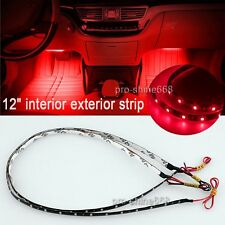 """12"""" Red 12SMD LED Interior Exterior Strip Footwell Dash Ambient Light Fit Hummer"""