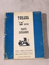 Holden LC Torana Parts Book also covers Nasco Accessories    LJ LH LX