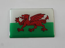 WALES FLAG Sticker/Decal - WITH HIGH GLOSS DOMED GEL FINISH
