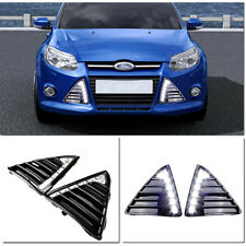 NEW LED daytime running light with fog lamp cover for 2011~2014 Ford Focus III
