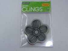 HERO ARTS BOLD LINE FLOWER CG253 CLING CLEAR RUBBER STAMPS NEW A1059