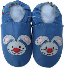 shoeszoo rabbit blue 6-12m S new soft sole leather baby shoes