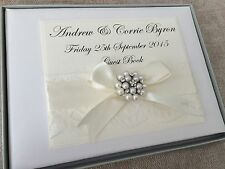 PERSONALISED WEDDING GUEST BOOK PERSONALISED IVORY WEDDING GUEST BOOK 50 PAGES