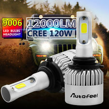 Free Post 9006 120W 12000LM CREE LED Headlight Kit Beam Bulbs 6000K High Power