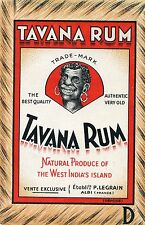 ETIQUETTE ALCOOL / TAVANA RUM/ NATURAL PRODUCE OF THE WEST INDIA'S ISLAND ALBI