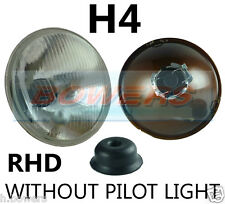 "7"" FLAT LENS CLASSIC CAR HEADLAMP HEADLIGHT HALOGEN H4 CONVERSION *NON PILOT*"